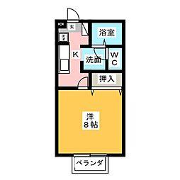 メゾン・ド・ブラン[1階]の間取り