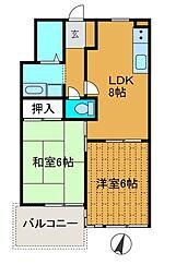 鹿沼台マンション[3階]の間取り