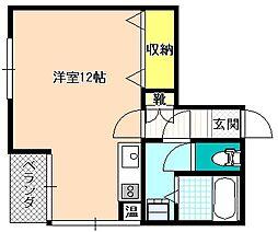 長野県飯田市東新町1丁目の賃貸マンションの間取り