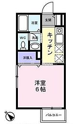 神奈川県横浜市南区中里3丁目の賃貸アパートの間取り