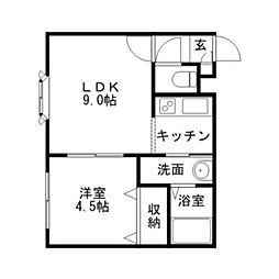 ドライエポック文京台[1階]の間取り