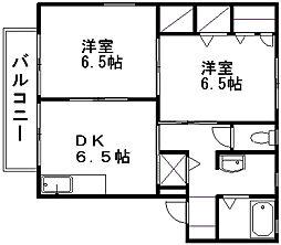 シャーメゾン・ランブル[1階]の間取り