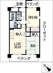 桜路[2階]の間取り