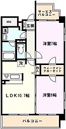 埼玉県戸田市新曽の賃貸マンションの間取り