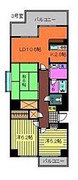 松崎ツインパークスS棟[303号室]の間取り
