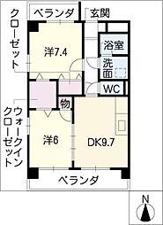 ASTORIA COURT・A[4階]の間取り
