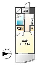 岩井橋ロイヤルハイツ[7階]の間取り