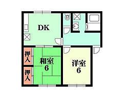 ライラックハウス[105号室]の間取り