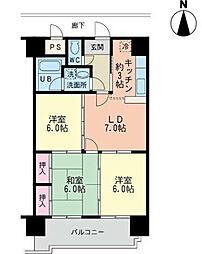 エムズコート沼本町 B棟[3階]の間取り