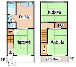 [一戸建] 兵庫県神戸市東灘区深江南町3丁目 の賃貸【/】の間取り