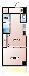 ホワイトライト 8階1DKの間取り