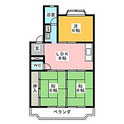 メゾン寿々喜[2階]の間取り