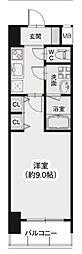 Osaka Metro御堂筋線 淀屋橋駅 徒歩5分の賃貸マンション 5階1Kの間取り