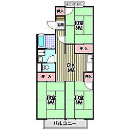 セジュール久野喜[1階]の間取り