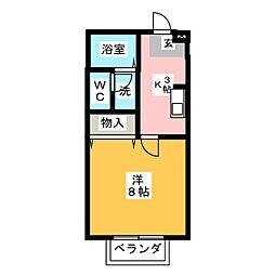 ソレイユ春日井[1階]の間取り