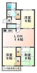 垂水高丸住宅6号棟[5階]の間取り