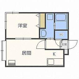 コンパートメントノースワン[3階]の間取り