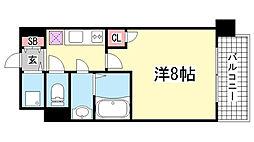 プロシード兵庫駅前通[1209号室]の間取り
