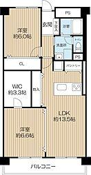住之江東コーポ[3階]の間取り