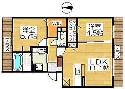パルクソレイユII[1階]の間取り