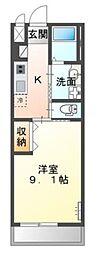 高松琴平電気鉄道琴平線 三条駅 徒歩9分の賃貸アパート 2階1Kの間取り