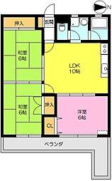 ロイヤルハイツ富士[303号室]の間取り