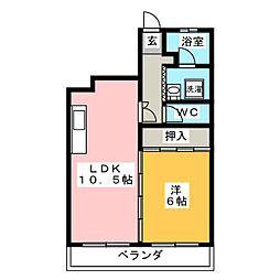 ハイツ河田[3階]の間取り