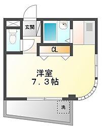 プチシャルマン甲子園高田[3階]の間取り