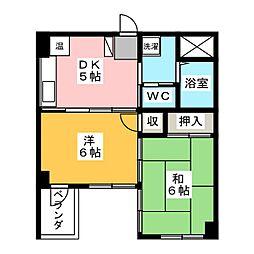 スクウェアーコート[3階]の間取り