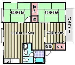 ピッコロモンドE棟[2階]の間取り