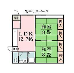 尚美堂マンション[1階号室]の間取り