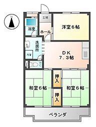 フローレスヤマワキ[1階]の間取り