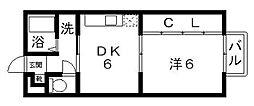 アンソレイユ[107号室号室]の間取り