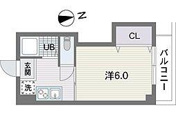 福岡県福岡市早良区城西3丁目の賃貸アパートの間取り