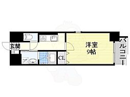 名古屋市営桜通線 高岳駅 徒歩2分の賃貸マンション 4階1Kの間取り