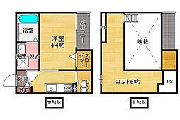 dormire箱崎(ドルミーレハコザキ)[1階]の間取り