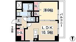 仮)弥富通マンション 7階1LDKの間取り
