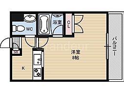 ディアコート[8階]の間取り