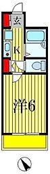 フローレンスビレッジ3[6階]の間取り