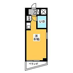 ラフィネ杁中[7階]の間取り