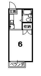 ハイツ紫明[202号室]の間取り