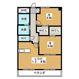 ベルラフィネ[2階]の間取り