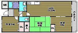 ラ・メゾンMS[3階]の間取り