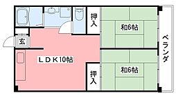 加島第2マンション[203号室]の間取り