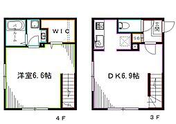 JR中央本線 荻窪駅 徒歩5分の賃貸マンション 4階1LDKの間取り