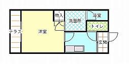 和歌山県和歌山市北島の賃貸マンションの間取り