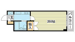 ジュネス姫路II[806号室]の間取り