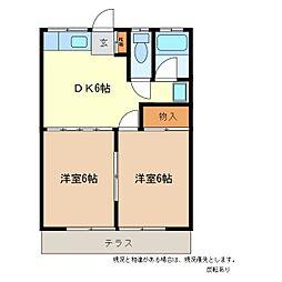甲子ハイツ[1階]の間取り