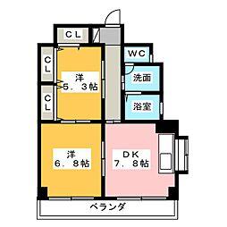 CSレジデンス[2階]の間取り