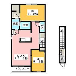 (仮)下川原4丁目新築1[2階]の間取り